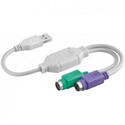 Adaptateur actif USB/PS2 double