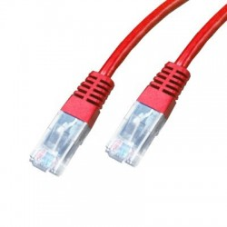 Cordon Cat 5e UTP Rouge - 0,25 m