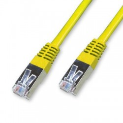 Cordon Cat 5e FTP Jaune - 1 m