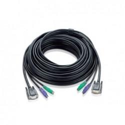 Cordon KVM VGA M / F - 2x PS/2 M / M - 20 m