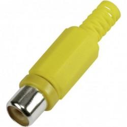 Connecteur RCA femelle jaune