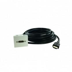 Plastron 45x45 HDMI F-M - AWG28 - 5m