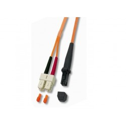Cordon FO Duplex multimode 62.5/125 MTRJ / SC - 1 m