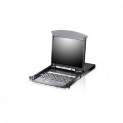 """Console LCD 19"""" PS/2 KVM 8 ports sur RJ45 cart IP intégrée KL1508AiN"""