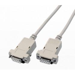 Cordon Null modem liaison PC DB9 F / F - 5 m