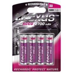 Batteries Ni MH professionnelles LR6 - 1,2 V - 2700 mAh - par 4