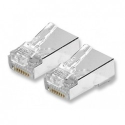 Connecteur RJ45 Cat 6 UTP contacts décalés Paquet de 10 pcs