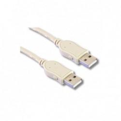 Cordon USB2.0 A-A M / M Beige - 5 m