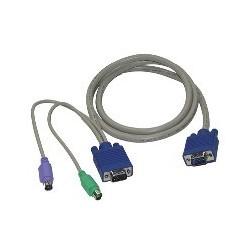Câble KVM PS/2 M / M - 3 m