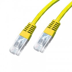 Cordon Cat 5e UTP Jaune - 1 m