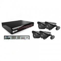 KGUARD - Kit DVR 4 Voies H.264 + 4 Caméras - PAL, FR, TUV
