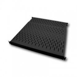 """Etagère 19"""" 1U noir Prof 850 ajust. 800 à 885 mm Charge 80 Kg"""