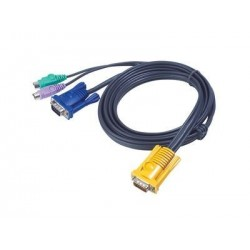 Cordon KVM PS/2 pour ATEN 2L-5202P - 1.80 m