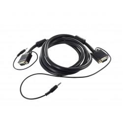 Cordon SVGA + Audio ''Platinum'' Full Pin - AWG26 - M / M - 30 m