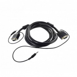 Cordon SVGA + Audio ''Platinum'' Full Pin - AWG26 - M / M - 5 m