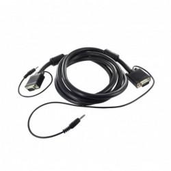 Cordon SVGA + Audio ''Platinum'' Full Pin - AWG26 - M/M - 1 m