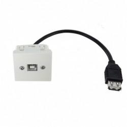Plastron USB B F - USB A F – 0.2m