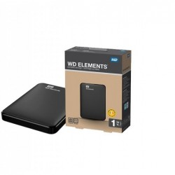 """Disque dur externe WD - 2.5"""" - USB 3.0 - 1 To - WDBUZG0010BBK-EESN"""
