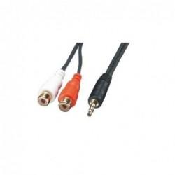Adaptateur audio stéréo 2 x RCA F / Jack 3,5 M – 0,2m