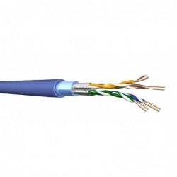 Câble DRAKA - 2x4 paires Cat.6A F/FTP LSHF bleu clair - 500M