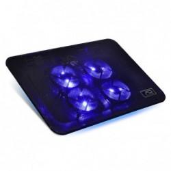 """AIRSTREAM 17"" Ventil 4 x 80 mm à LED bleu,Grille métal mesh, 1500RPM"