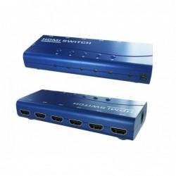 Commutateur HDMI 5 entrées 1 sortie - télécommande - 1080p