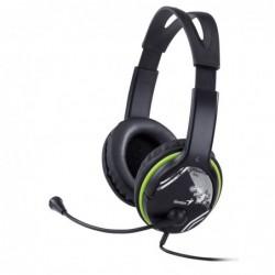 GENIUS - Micro Casque, noir et vert, ecouteurs ajustables - HS400A