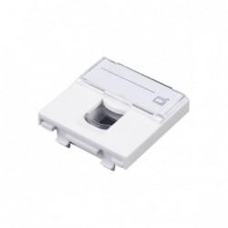 Prise terminale 45x45  avec volet C5E UTP ss outil blanc
