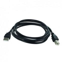 Cordon USB 2.0 A-B M / M - AWG28/24 - Noir - 1.8 m