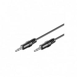 Cordon audio stéréo Jack 3,5 M/M - 20m - blindé