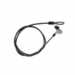 Câble de sécurité à code 4 digits - tête en métal