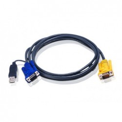 Cordon KVM For USB&USB Mac Computer 2L-5202UP - 1.8m