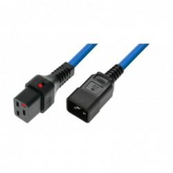 IEC Lock - Rallonge secteur C19/C20 - 1m Bleu