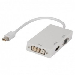 Adaptateur multiple mini DisplayPort - DVI + VGA + HDMI 0,20 m