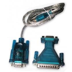 Adaptateur USB 2.0 - Série RS-232 DB9/DB25 - 1.8 m - Win XP, 7, 8