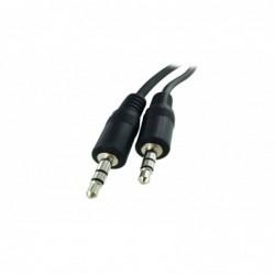 Cordon audio stéréo Jack 3,5 M/M - 0.6m - blindé