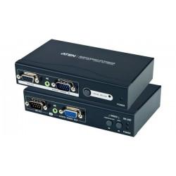 Extendeur Audio + VGA + RS232 Emetteur + Récepteur - ATEN VE200
