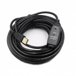 Rallonge amplifiée USB2.0 AA M/F 10m