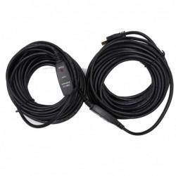 Rallonge amplifiée USB2.0 AA M/F – 20m (option alim secteur)