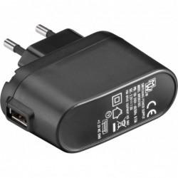 Chargeur secteur USB - 1000mA - Noir