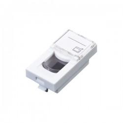 Plastron 22.5x45 avec volet C5E UTP - Contact Auto-dénudants