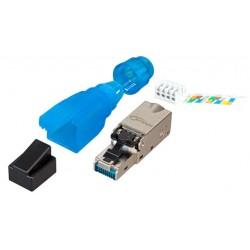 Connecteur Cat 6A RJ45 spécial câble rigide étanche IP20
