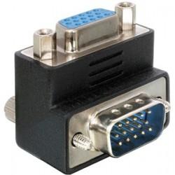 Adaptateur VGA M/F Coudé 90°