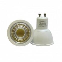 Lampe PROLAMP SUPER LED Gu10 - COB 6W - 3000°K -38°-Plastique-500 Lms