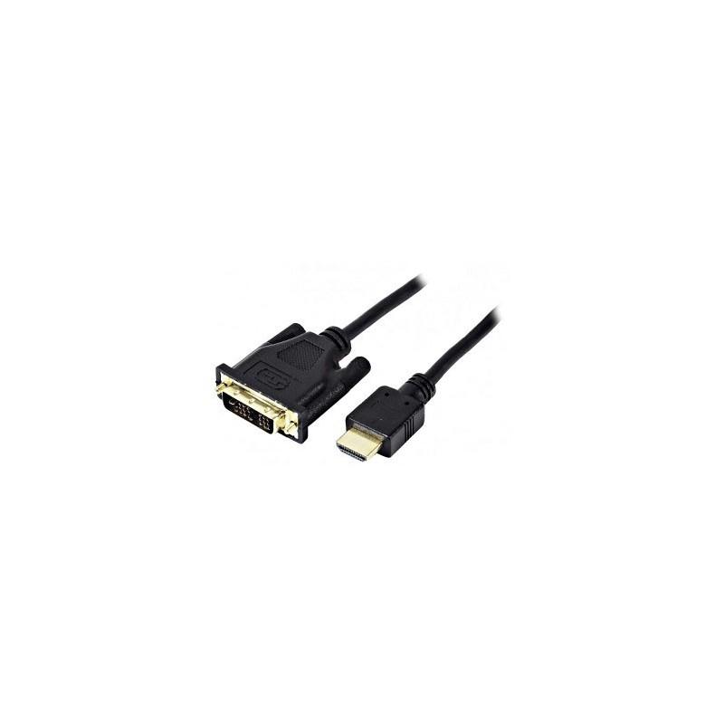 Cordon DVI-D M single link - HDMI M - 5 m