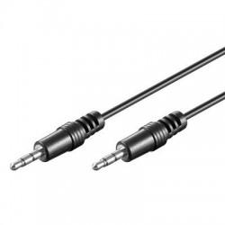 Cordon audio stéréo Jack 3,5 M/M - 1,5m - blindé