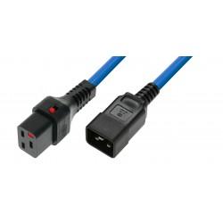 IEC Lock - Rallonge secteur C19/C20 - 3m Bleu