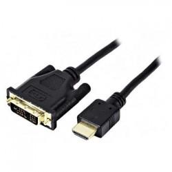 Cordon DVI-D M single link (18+1) - HDMI M - 10 m