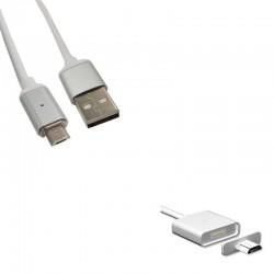 Cordon de charge magnétique USB A vers micro USB - 1m
