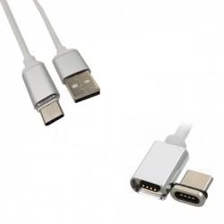Cordon de charge magnétique USB A vers USB-C - 1m